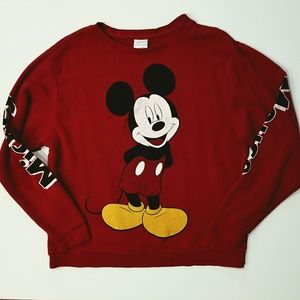 Disney Mickey Mouse red lightweight sweatshirt XL